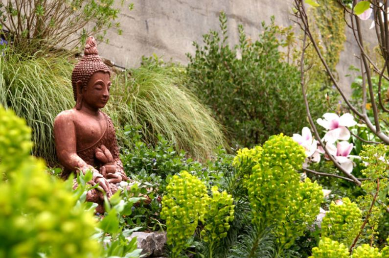 Buddha in Garden Presented By Molly & Claude Team Realtors - Royal Lepage - Ottawa Houses & Condos for Sale